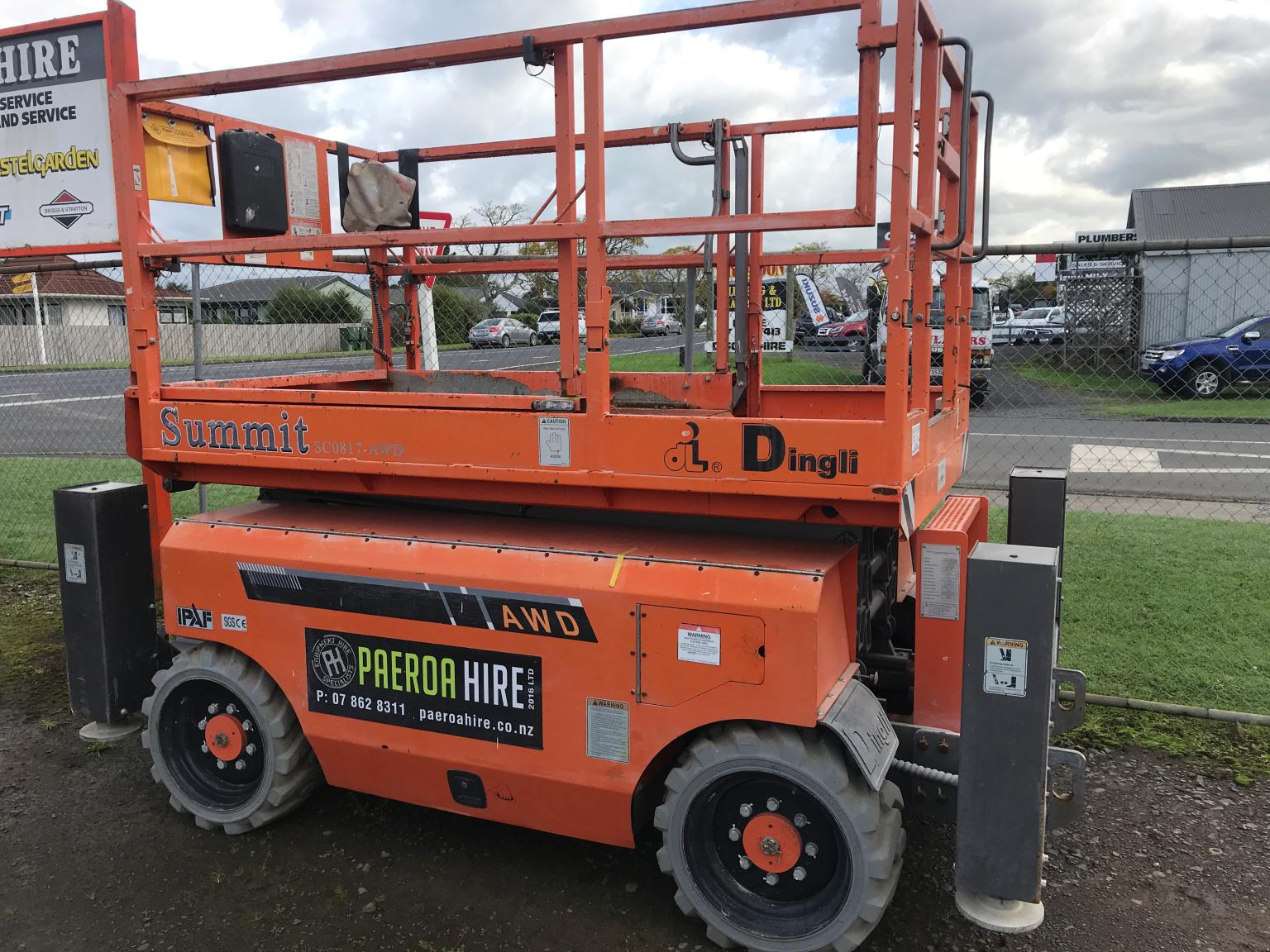 8m All Terrain Scissor Lift (Diesel) – Paeroa Hire